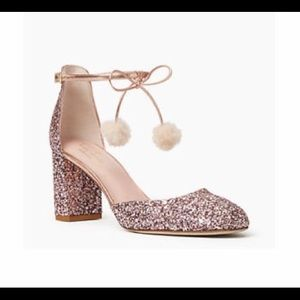 Kate Spade rose gold shoes